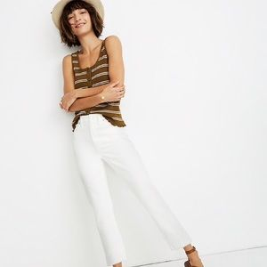 Madewell The High-Rise Slim Boyjean in Tile White